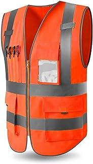 YUFENGBAIHUODIAN Hommes Haute sécurité Gilet de Travail Gilet de Travail Vêtements de Travail Sécurité Reflective Gilet de...
