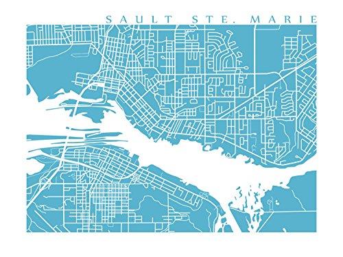 Sault Ste Marie Canada Map Amazon.com: Sault Ste Marie Map Print: Handmade