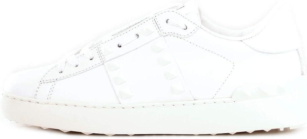 Valentino garavani, scarpe per donna, sneakers,in pelle ,con applicazione di borchie ,taglia 35 eu RY2S0B39APNDX9