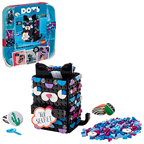 LEGO DOTS Secret Holder 41924 DIY Craft Decorations Kit; Creative Activity for Kids Who Want to Make a Cool Cat Set, New 2021 (451 Pieces)