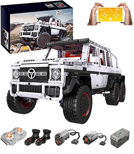 KEAYO Technik Geländewagen Ferngesteuert, Mould King 13061, Technik 6x6 Truck mit Monstermotor, Technik Off-Roader Bausatz Kompatibel mit Lego Technik