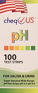 CheqUS Ph Saliva/Urine Test Strip, 100 Count