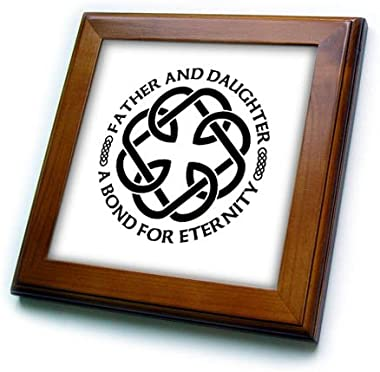 3dRose Celtic Fatherhood Knot Father and Daughter A Bond for Eternity Framed Tile, 6 x 6