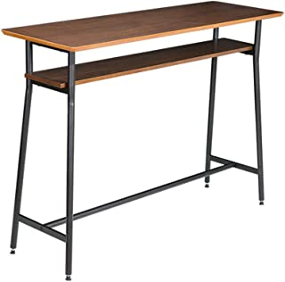 快適ホームズ ウォールナット 天然木 カウンターテーブル ブラウン バーテーブル ハイテーブル カウンター 木製 01-001