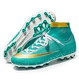 AIRUYI Zapatos deportivos Botas de fútbol con punta alta, zapatos de fútbol, zapatos de entrenamiento profesionales al aire libre, zapatillas deportivas de competición (color: luna, tamaño: 42)