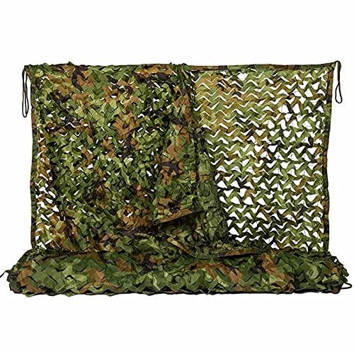 Rete Mimetica Camouflage,Telo per Fotografia trisacca da Caccia capanno da Giardino Rete piccioni,per Campeggio Militare Caccia Mimetica Netto tiro cieco(Size:1.5x10M=5X33FT,Color:Giungla)