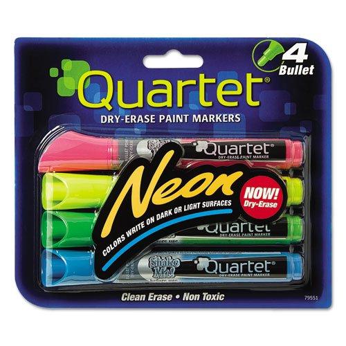 Quartet 79551 Neon Dry Erase Marker Set Assorted 4Set
