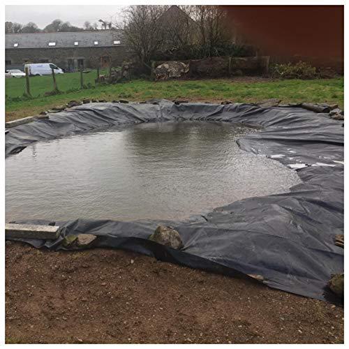 Teichfolie PVC Dichtungsfolie UV-Schutz Fischteich Liner Tuch Hause Garten Pool Verstärkt, Folienkleber für Teichfolien Landschaftsbau Pool Teich Liner, 0.5mm Mehrere (Color:0.5mm,Size:6x26ft/2x8m)
