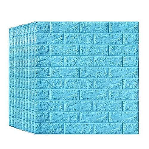 Haushaltsgeräte 3D Brick Wallpaper Wasserdichtes Brick Wall Decal Papier Abnehmbare selbstklebende Tapete für Schlafzimmer Wohnzimmer Moderner Hintergrund TV-Dekor 70x70cm / 70cmx77cm (10 Stück Zie