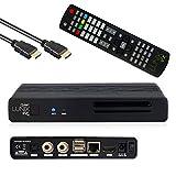 ✅ VOLLE POWER: Dual Core Broadcom ARM CPU (2x 1.7 GHz) und 4 GB NAND eMMC Flash Speicher. 4K Sat DVB-C/T2 Receiver mit Aufnahmefunktion auf eine externe Festplatte oder USB Stick. ✅ TECHNIK: Er bietet einen fest verbauten Twin DVB-S2X Multistream Tun...