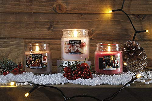 HomeZone Aroma Candles Set of 3 Small Candles Christmas Scents Cinnamon Gingerbread Frankincense & Myrrh Xmas Aroma Candle Set Home Festive Gift Boxed Scented Candle Jars