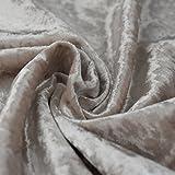 Bling Crushed creme Samt–Ideal für Vorhang