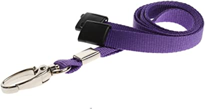 ID Card It ID Badge Holder Purple Neck Strap Safety Breakaway Lanyard with Solid Metal Lobster Clip - 1