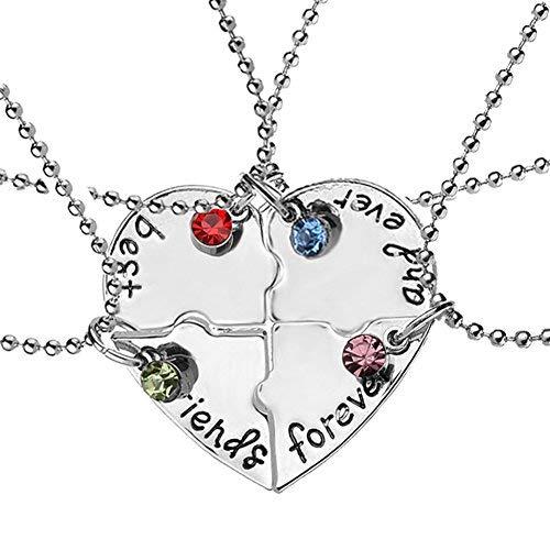 EQLEF® 4 Collar Amistad Plata aleación
