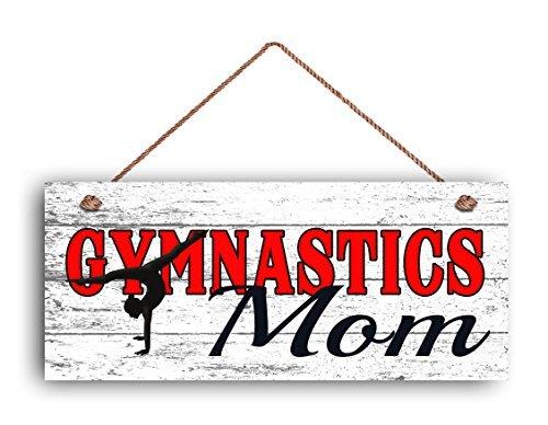 Panneau en bois avec inscription « Gymnast » pour maman, cadeau pour elle, style vieilli, 15,2 x 35,6 cm