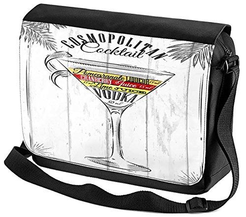 Umhänge Schulter Tasche Plakat Motiv Cosmopolitan Cocktail Bedruckt Küchenmotiv
