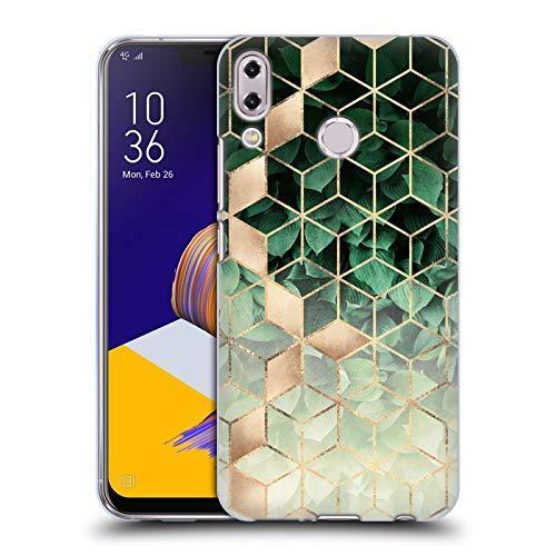 Head Case Designs sous Licence Officielle Elisabeth Fredriksson Feuilles Et Cubes Paillettes Coque en Gel Doux Compatible avec ASUS Zenfone 5z ZS620KL / 5 ZE620KL