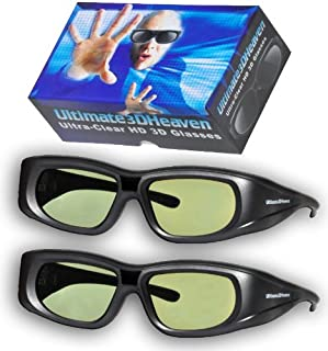 2 Ultra-Clear 3D Glasses for Sharp 3D Televisions Rechargeable