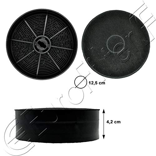 FABER ELUX f196 AEG FRANKE 2 filtri a carbone per eff62 gzd0162 carbone attivo filtro