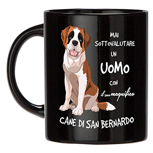 12Print Tazza Cane San Bernardo: Mai Sottovalutare Un Uomo con Un Cane Cane San Bernardo