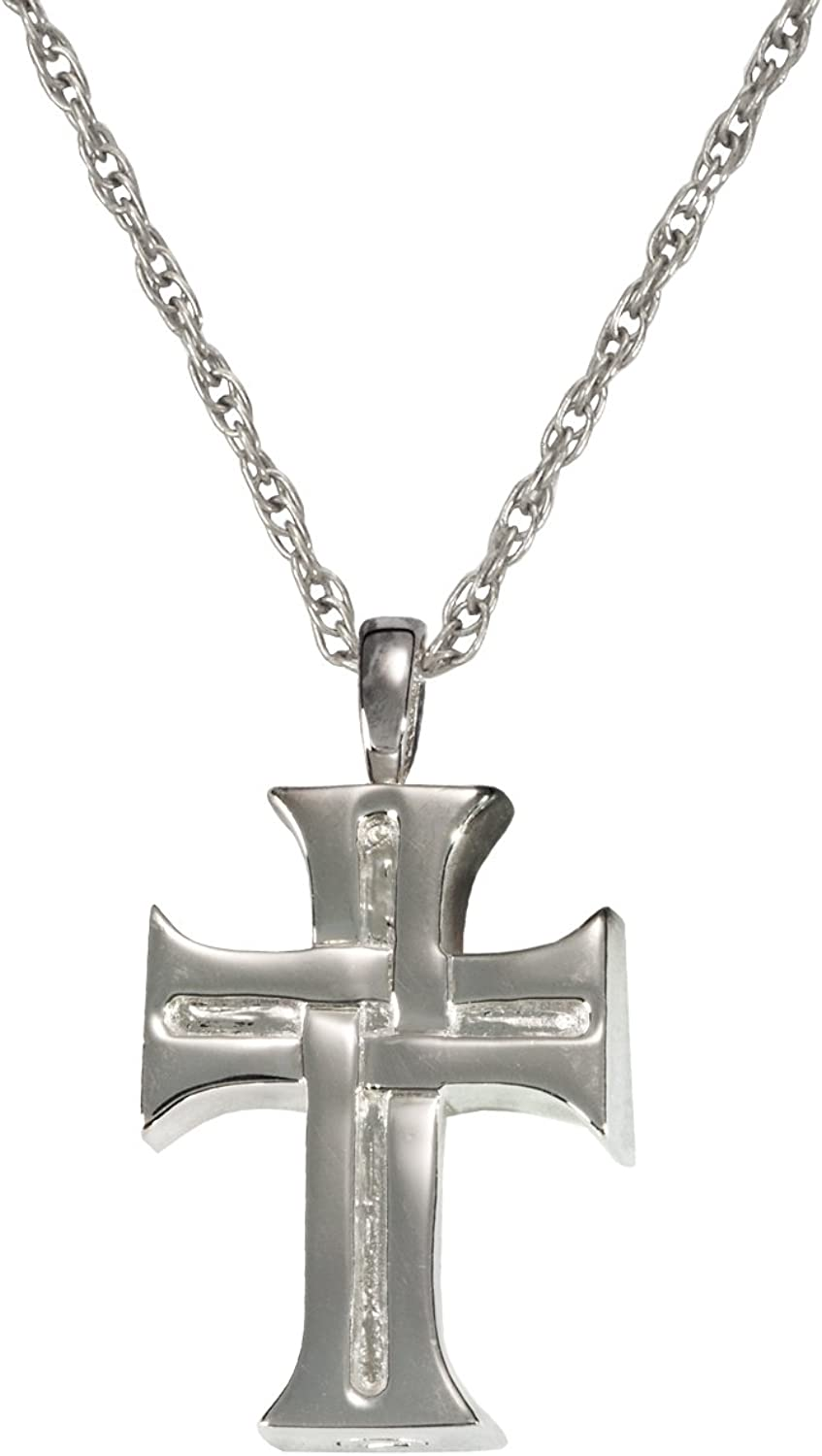 Cremation Memorial Jewelry  Sterling Silver Men's Cross