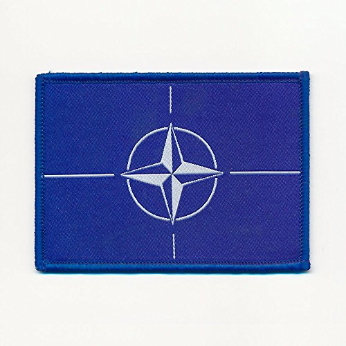 Nato Nord-Atlantik-Bündnis Flaggen Flags Patch Aufbügler Aufnäher 0729 B