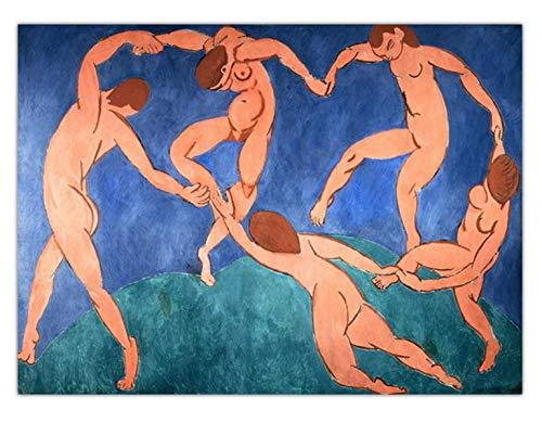 H/E Simple Francés Henri Matisse Art Poster Pintura Al Óleo Paisaje Nostálgico Retro DIY Hogar Sala De Estar Bar Café Mural Decorativo Sin Marco 50X60Cm W7894