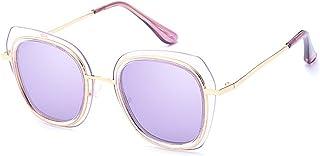Gafas de sol unisex Charm Lady's Gafas de sol polarizadas Irregular Irrompible Marco Gafas de sol para mujer Protección UV Rimmed Gafas de sol Clásicas Gafas de sol de señora para conducir Viajar para