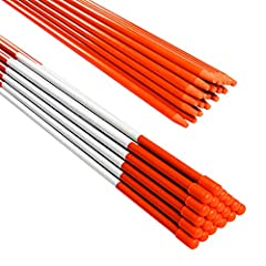 Light and flexible - Snow stakes are made of durable fiberglass with orange uv-proof coating. Lightweight and sturdy. Mark driveways clearly. Reflective Snow Poles - When the car lights shine on the plow markers, the reflective tape will refract a st...