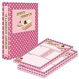 PRICARO Carpeta de recetas con bloc de recetas retro A5