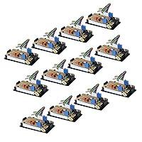 Milageto 12個3 1/2 200v 50a DC LEDデジタルメーターゲージ