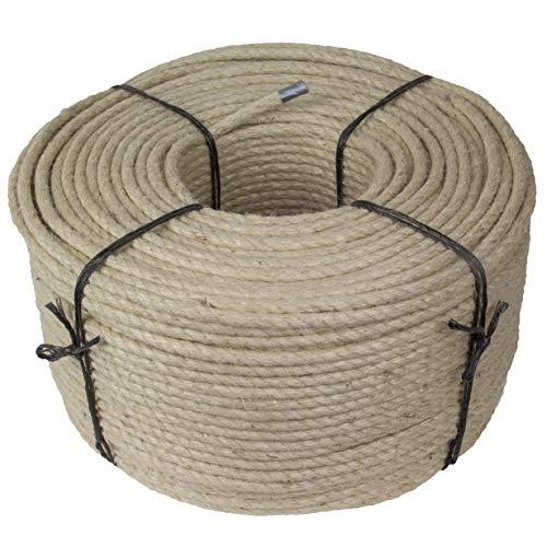 Kratzbaumland Jute-Seil 10 mm, Juteseil für Kratzbäume (versch. Längen) (20 Meter) Alternative zu Sisalseil
