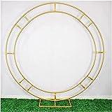 SLZFLSSHPK Arco para trepadoras Pérgola metálica de jardín Accesorio de Boda Estante de Anillo de Hierro Flor Artificial Soporte de Pared Puerta Decoración de Fondo de Boda Arco de Hierro Soporte