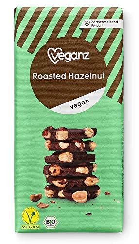 Veganz BIO Geroosterde Hazelnoot - Veganistische Chocolade met Geroosterde Hazelnoten Knapperige Vegan - 10 x 90g