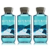 Lot of 3 Bath & Body Works Whitewater Rush 2 in 1 Hair & Body Wash for Men (Whitewater Rush)