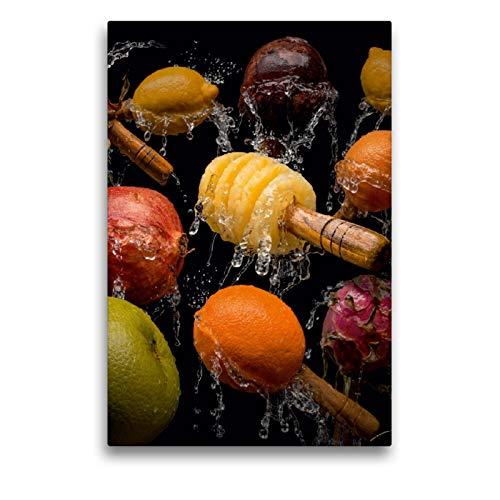 CALVENDO Premium Textil-Leinwand 50 x 75 cm Hoch-Format Maraca Samba, Leinwanddruck von Olaf Bruhn