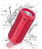 Ortizan Altavoz Bluetooth inalámbrico portátil, luz LED, reproducción IPX7 30H, Volumen más Alto y Bajos mejorados, Duradero para Viajes, al Aire Libre