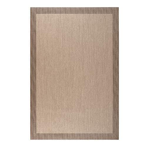Alfombra vinílica Deblon – Alfombra de PVC Antideslizante y Resistente, Ideal para salón, Cocina, baño… ¡Disponible en Medidas Grandes y más Colores! (140cm x 200cm, Marrón Claro)