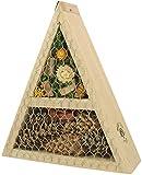 NEST TO NEST Casetta per Insetti Api Selvatiche Coccinelle in Legno I Casa per Insetti I Casetta E Protezione per Insetti I Triangolare
