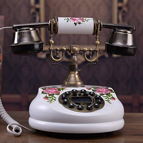 DJY-JY Antiguo teléfono europeo antiguo teléfono de madera maciza Conexión fija Teléfono privado creativo Classic-A