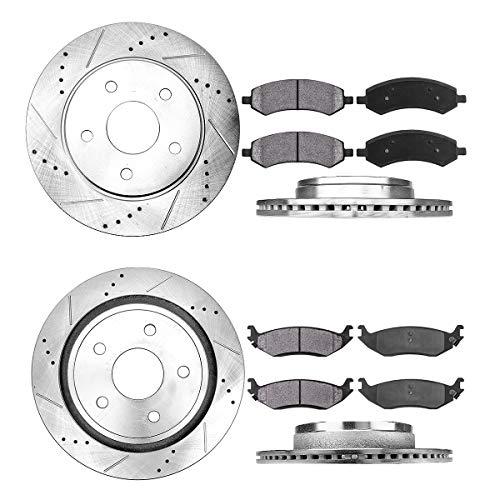 Callahan CDS02589 FRONT 336mm + REAR 352mm D/S 5 Lug [4] Rotors + Brake Pads + Hardware [fit Aspen Durango Ram 1500]
