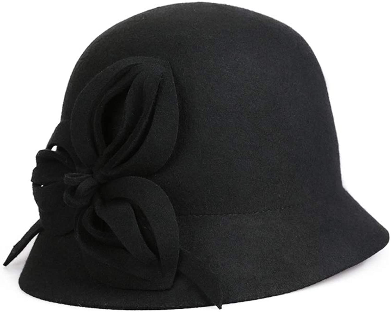 Cute Wool Felt Ribbon Bow Winter Floppy Hats Jazz Hat for Women