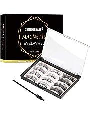 Magnetic Eyelashes, Magnetic False Eyelashes, Reusable Magnetic False Eyelashes 3D Magnets Eyelashes with Tweezers Set,for Women Makeup Natural Look
