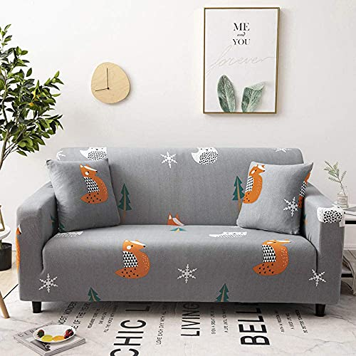 L.TSA Fundas de sofá Poliéster elástico, para Sala de Estar Estuche de sofá de Esquina elástico en Forma de L Fundas de sofá antipolvo-35_90-140cm, Funda de sofá elástica