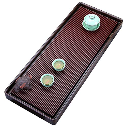 XCJJ Ebony Tea Tray Whole Solid Wood Tea Tray Household Tea Table Kung Fu Tea Set Drainage Carved Tea Tray The Best Gift,Brown,80324cm