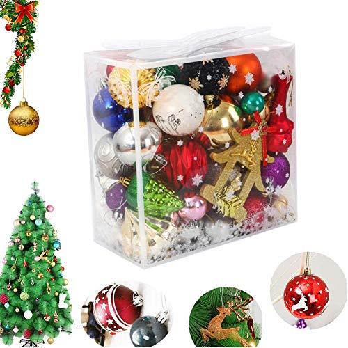 REYOK Palle di Natale Plastica Addobbi Natalizi 40 Pezzi di Palline di Natale e Palline per L'Albero Impostare,Sfere per Albero di Natale Set per la Decorazione Dell'Albero di Natale