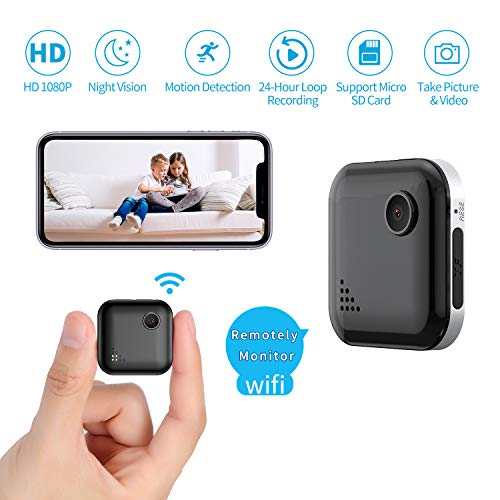 Mini WiFi-Spy Camera 1080P Wireless Hidden-Camera, OUCAM Small Surveillance Camera Spy Cam with Audio and Video Recording, Nanny Cam with Live Stream/Night Vision/Motion Activated (iOS/Android APP)