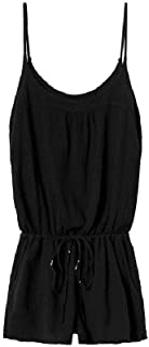 Black Gauzy Cotton Romper