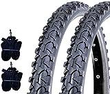 EBA16MAD 2 COPERTONI Neri + 2 Camera d'Aria 16 X 1.75 (44-305) MTB Bicicletta Mountain Bike