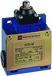Telemecanique XCKM OsiSense XC Standard Limit Switch, Three Cable Entries, 1 NO and 1 NC Snap-Action Contacts, Metal End Plunger
